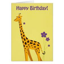 giraffe birthday greeting cards zazzle co nz