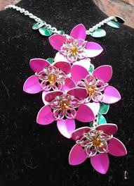mail flowers 24 best chainmaille flowers images on chainmaille