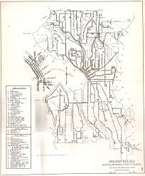 Seattle Metro Bus Routes Map by What Public Transit Looked Like In 1939 Seattle