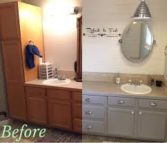master bath transformation with general finishes seagull gray milk