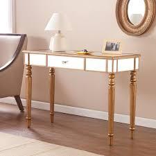 Mirror Sofa Table by Abbyson Living Venice Studded Mirror Silver Sofa Table
