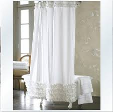 white ruffle shower curtains extra long contemporary shower