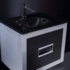 danya silver and black modern bathroom vanity