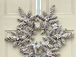 snowy pinecone wreath white wreath pinecone and wreaths