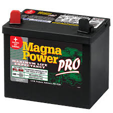 shop magna power 12 volt 365 amp lawn mower battery at lowes com