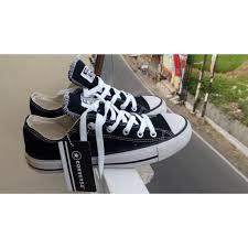 Sepatu Converse Black sepatu converse classic ox black elevenia