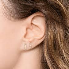 gold bar stud earrings sylvie diamond bar earrings gold