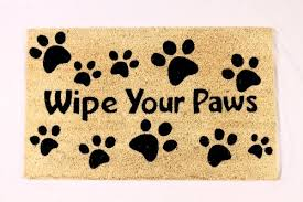 Wipe Your Paws Rubber Backed Doormats