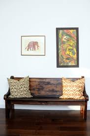Antique Hall Bench Antique Bench Mudroom Hallway Idea Eclectic Hall Los Angeles