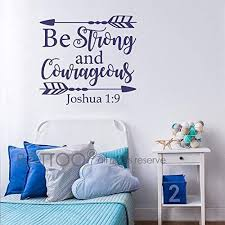 Scripture Wall Decals For Nursery Battoo Joshua 1 9 Be Strong And Courageous Nursery Wall Decal