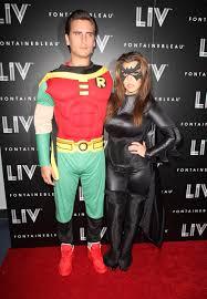 scott disick u0026 paris hilton both dresses as robin for halloween
