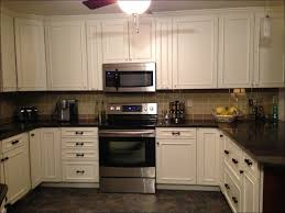 Blue Backsplash Kitchen Kitchen Blue Backsplash White Stop Contact White Laminated