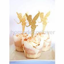 fairy cake topper 20pcs glitter paper angel fairy cake topper wedding party