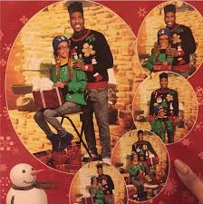 celebrity christmas cards teyana taylor and iman shumpert