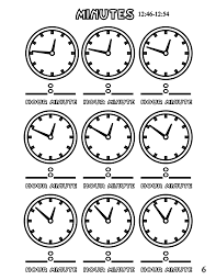 file tell time clock mins 6 at coloring pages for kids boys dotcom