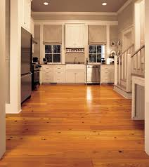 antique reclaimed heart pine solid wood flooring in a contemporary