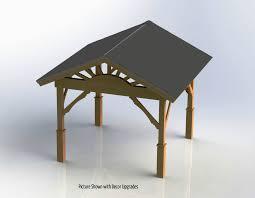 gazebo with gable roof building plans diy backyard