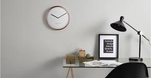 horloge de bureau design aurelia grande horloge murale cuivre made com