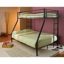 metal twin over full bunk bed black