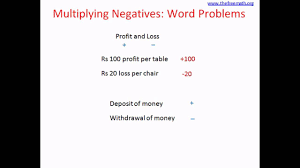 multiplying negatives word problem youtube