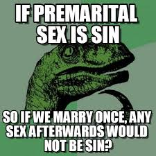 Meme On Sex - if premarital sex is sin philosoraptor meme on memegen