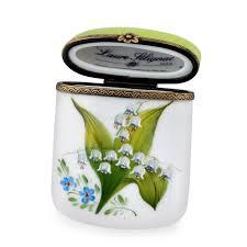 porcelaine peinte main boite en porcelaine de limoges peinte main carnet de bal cadeau