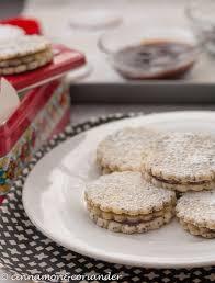 poppy seed u0026 marzipan sandwich cookies with plum jam a german
