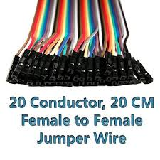 nooelec female to female jumper wire harness 40 pack 20cm