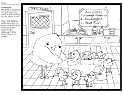 teacher birdie coloring sheet artful artsy amy