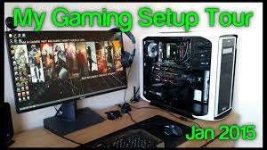 my gaming youtube setup tour 2015 600t pc build asus rog swift g