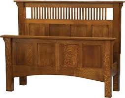 Arts And Craft Bedroom Furniture Amish Mission Panel Bed Bedrooms Master Bedroom And Dresser