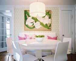 Dining Table With Bench Photos  Of - White kitchen table with bench