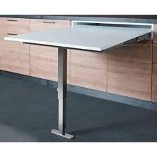 table rabattable cuisine table escamotable avec pied dans un tiroir accessoires de cuisines