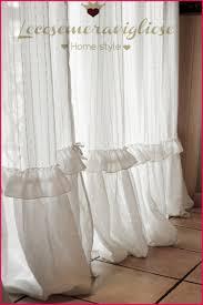 tendaggi shabby chic rideaux cagne chic 252583 tende shabby chic in lino bianco