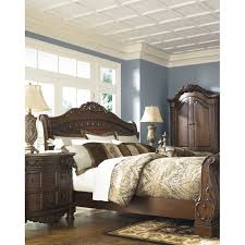 Ashley Greensburg Bedroom Set Bedroom Ashley Leather Sleigh Bed Brick Alarm Clocks Lamps