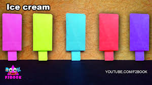 f2book how to make a paper ice cream easy paper craft for kids
