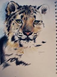 fime blue eyed snow leopard tattoo design tattooimages biz