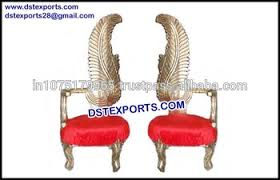indian wedding chairs for and groom reception wedding stage groom chairs stylish wedding golden