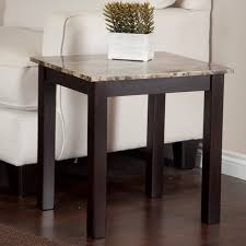 amazing linon home decor tray table set faux marble brown best