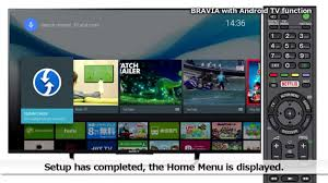 tv guide for android sony lcd tv bravia android tv initial setup guide