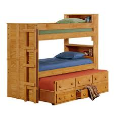 Bunk Bed With Trundle And Drawers Wooden Bunk Beds Solid Wood Bookcase Bunk Bed Trundle 3905t