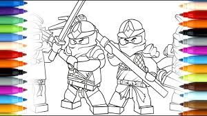 how to draw lego ninjago movie kai and lloyd coloring pages