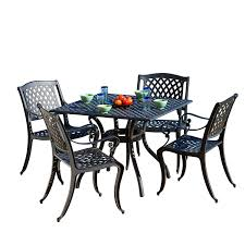 Aluminum Patio Furniture Set - amazon com best selling home decor 5 piece gaffey cast aluminum