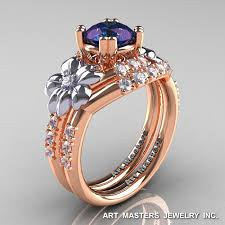 leaf and vine engagement ring nature inspired 14k two tone white gold 1 0 ct alexandrite