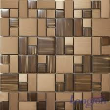 stainless steel mosaic tile backsplash stainless steel mosaic tile