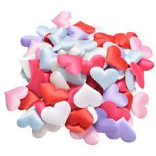 Fabric Heart Decorations 90pcs Pack Diy Satin Heart Shaped Fabric Artificial Flower Petals