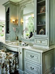 Hgtv Bathroom Vanities by Antique Green Sit Down Bedroom Vanity Designers U0027 Portfolio