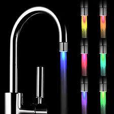 led kitchen faucet led faucet sensor water ebay