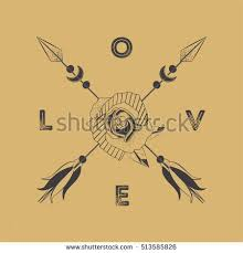 black rose arrows composition on white stock vector 513586201