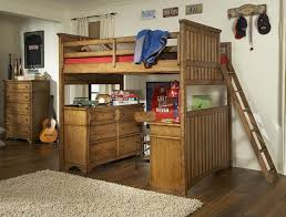 collection in full size wood loft bed estes park full size loft